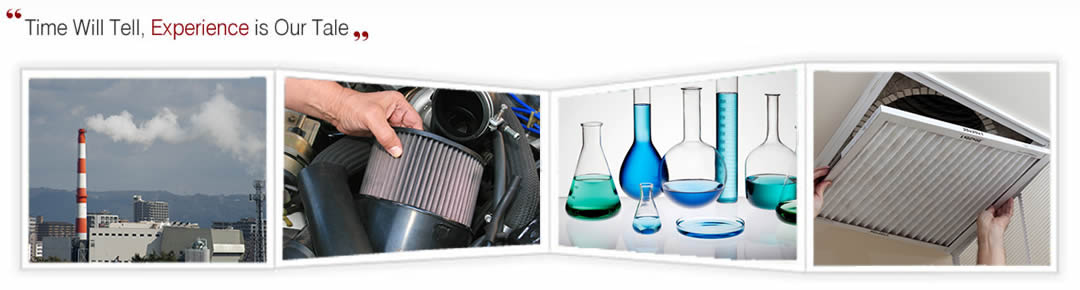 Filters can be used in industry, cars, chemistry and air filtration.