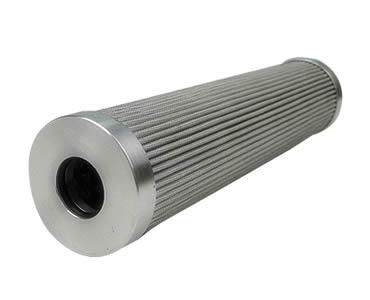 The pleated hydraulic oil filter manufactured with aluminum edges.
