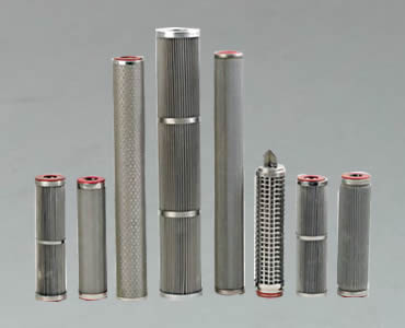 A row of different types of candle filter.