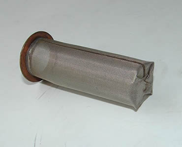 One cylindrical filter with closed welded bottom and with stick out aluminum edge.