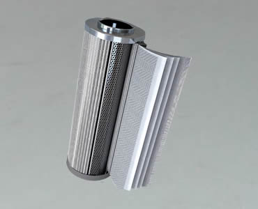 The inner structure of a cartridge filter.