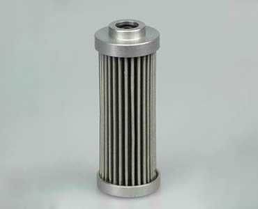 A pleated cartridge filter in cylindrical shape.