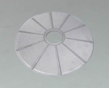 A round leaf filter and divided into several parts by the aluminum frame.