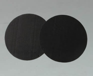 Two filter packs made of black wire cloth with welded spot edge.